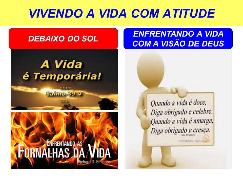VIVENDO A VIDA COM ATITUDE ENFRENTANDO A VIDA COM A VISÃO DE DEUS DEBAIXO DO SOL