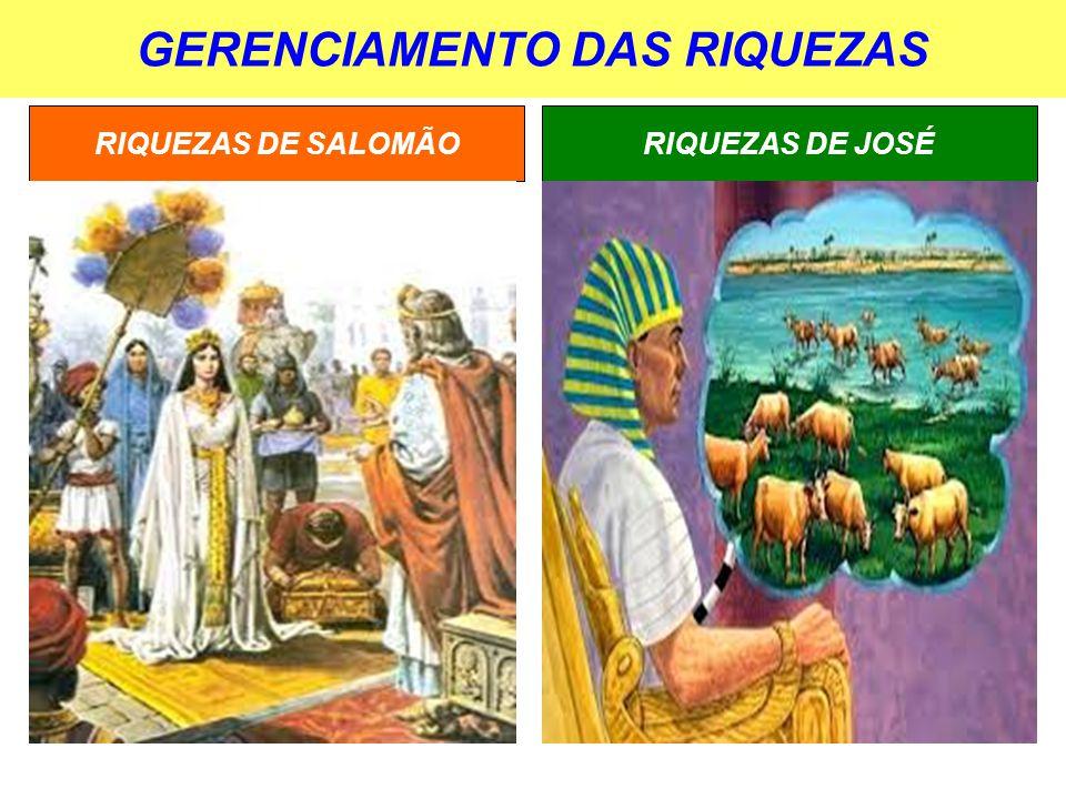 GERENCIAMENTO DAS RIQUEZAS RIQUEZAS DE JOSÉRIQUEZAS DE SALOMÃO