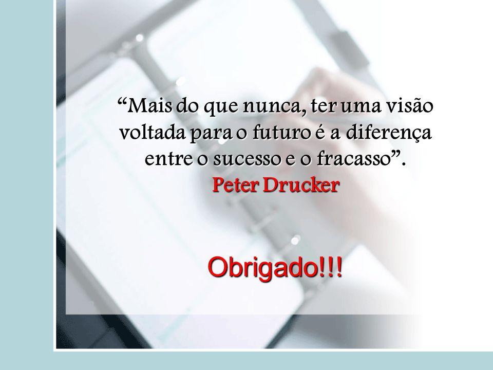 """""""Mais do que nunca, ter uma visão voltada para o futuro é a diferença entre o sucesso e o fracasso"""". Peter Drucker Obrigado!!!"""