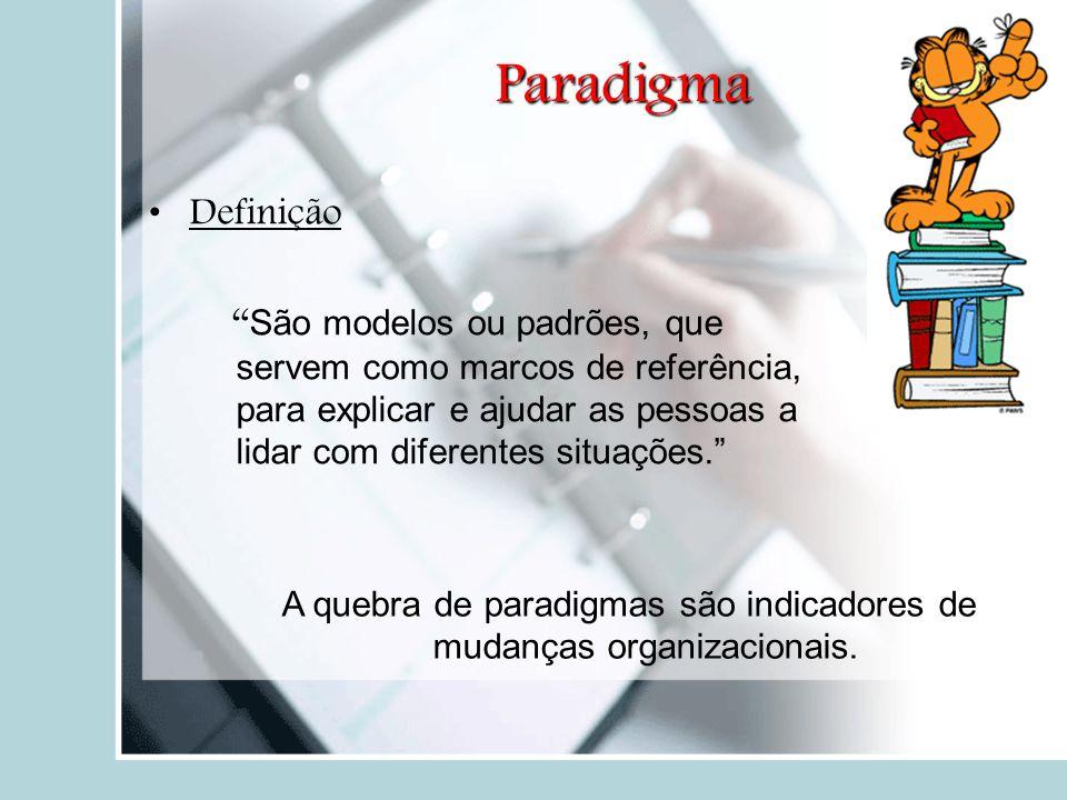 """Paradigma Definição """" São modelos ou padrões, que servem como marcos de referência, para explicar e ajudar as pessoas a lidar com diferentes situações"""