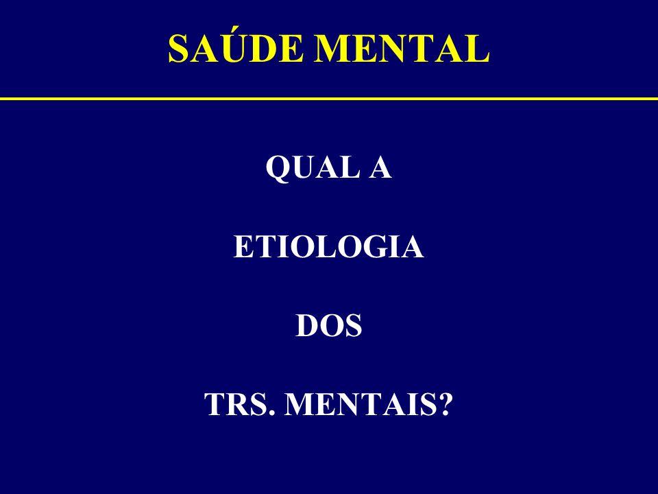 SAÚDE MENTAL QUAL A ETIOLOGIA DOS TRS. MENTAIS?