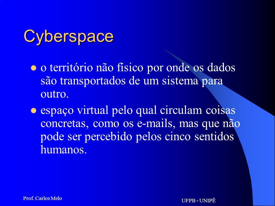 UFPB - UNIPÊ Prof. Carlos Melo Criptografia escrita codificada - processo que torna as informações indecifráveis para protegê-las de visualização ou u