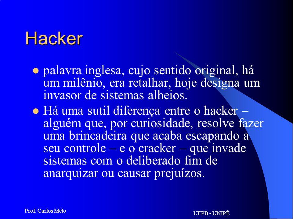 UFPB - UNIPÊ Prof. Carlos Melo Freeware qualquer software grátis, tanto os que podem ser descarregados pela web quanto os CD-ROMs promocionais entregu