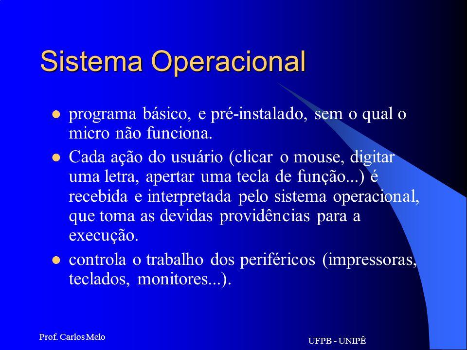 UFPB - UNIPÊ Prof. Carlos Melo URL Uniform Resource Locator: Localizador Uniforme de Recursos. Todos os recursos na Internet possuem seus próprios ide