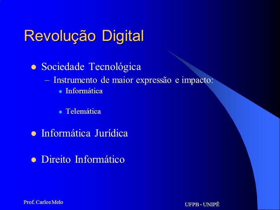 UFPB - UNIPÊ Prof. Carlos Melo Evolução tecnológica: Revolução Agrícola –Cultivo de plantas e domesticação de animais Revolução Industrial –O século X