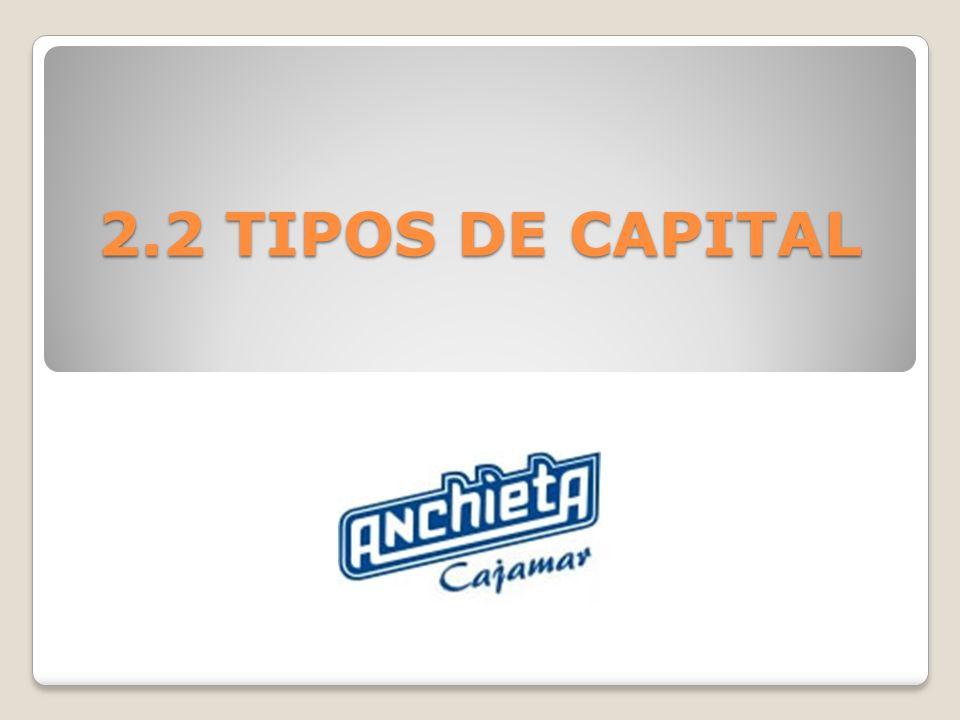 2.2 TIPOS DE CAPITAL