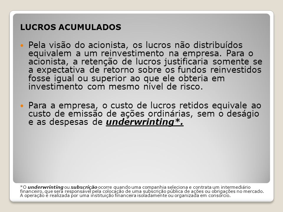 PROBABILIDADE DE FALÊNCIA O risco econômico também é afetado pela estabilidade de receitas e custos.