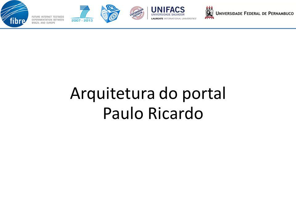 Arquitetura do portal Paulo Ricardo