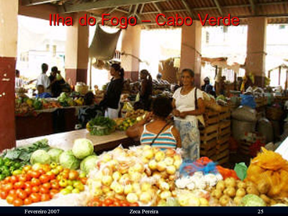 Fevereiro 2007Zeca Pereira24 Ilha do Fogo – Cabo Verde Complexo agrícola de Monte Genebra de vital importância para o abastecimento de hortícolas.