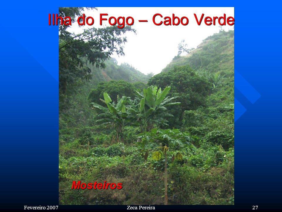 Fevereiro 2007Zeca Pereira26 Ilha do Fogo – Cabo Verde Espectacular paisagem da encosta do vulcão virada para os Mosteiros