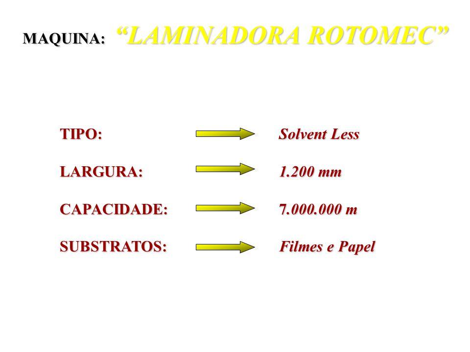 Nº de CAMADAS: 03 (três) Nº de CAMADAS: 03 (três) LARGURA: 2.100 mm LARGURA: 2.100 mm CAPACIDADE: 210 Toneladas CAPACIDADE: 210 Toneladas POLIMEROS: L