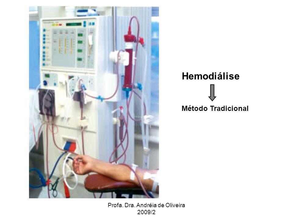 Profa. Dra. Andréia de Oliveira 2009/2 Hemodiálise Método Tradicional