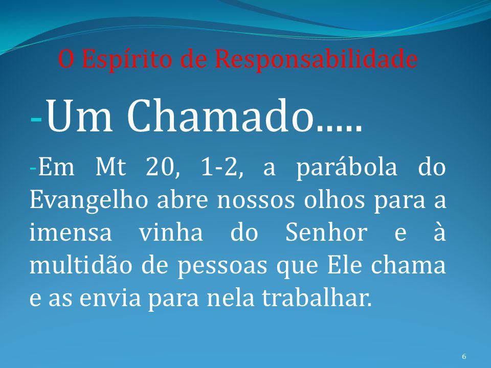 UM CHAMADO do SENHOR...