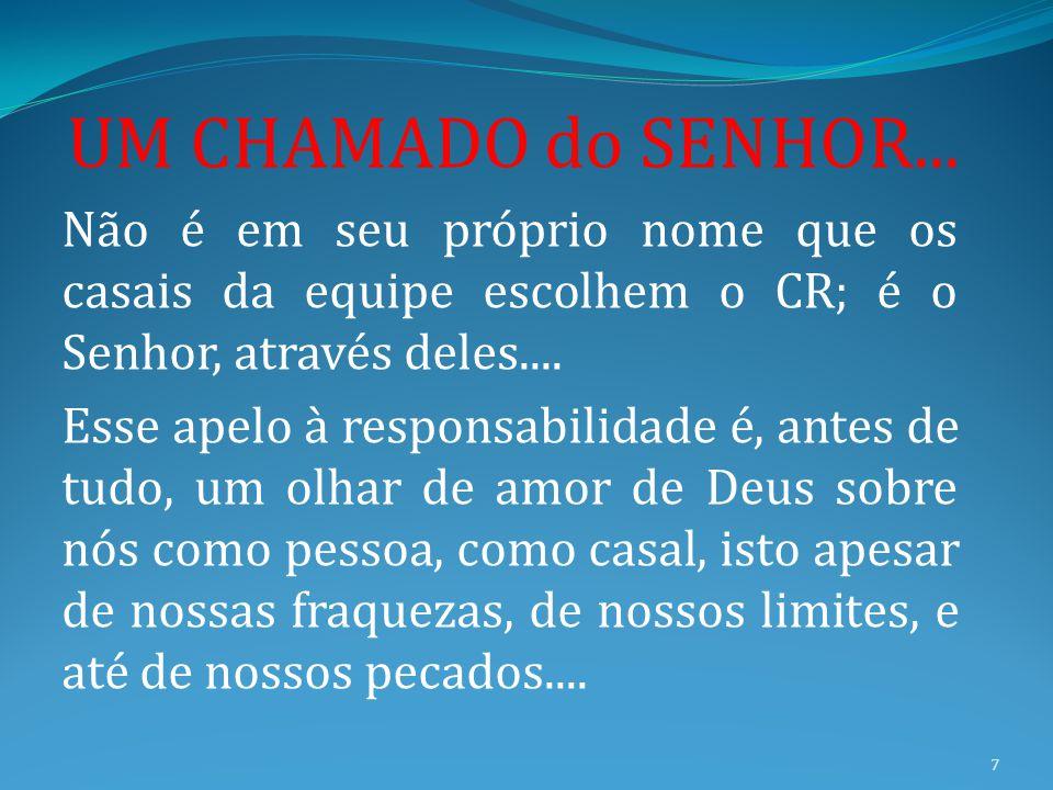 18 REUNIÃO PREPARATÓRIA SCE CA CRE ROTEIRO DEVE SER ENTREGUE COM DEVIDA ANTECEDÊNCIA AOS CASAIS DA EQUIPE E AO CL.