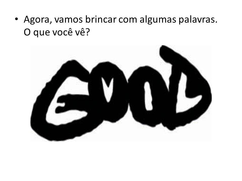 Em preto você pode ler a palavra GOOD, em branco a palavra EVIL (dentro de cada letra preta tem uma letra branca).