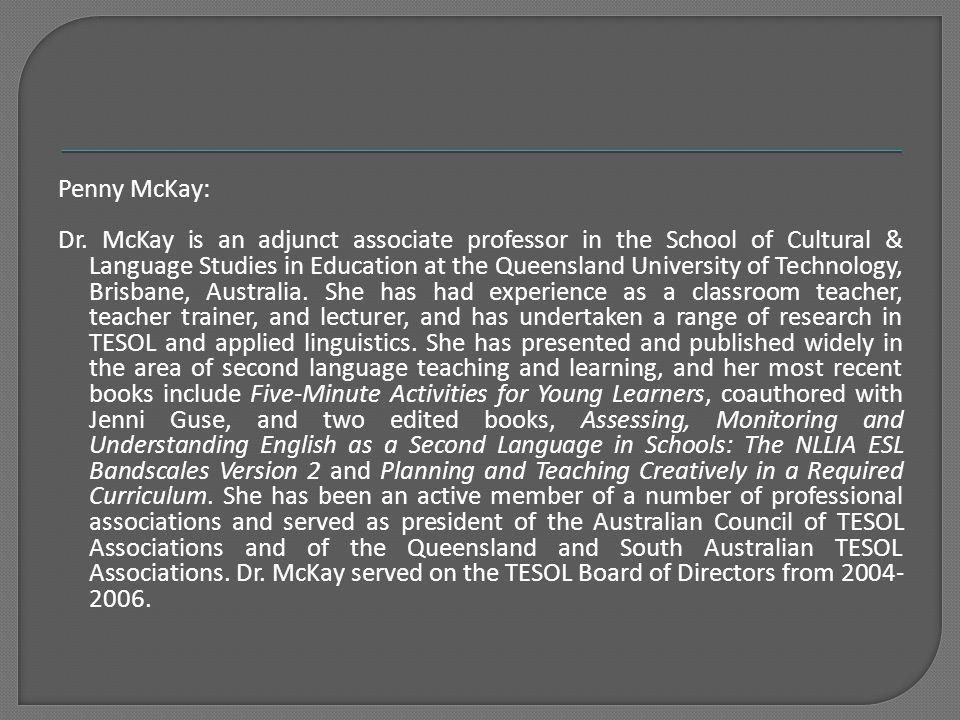 Penny McKay: Dr.
