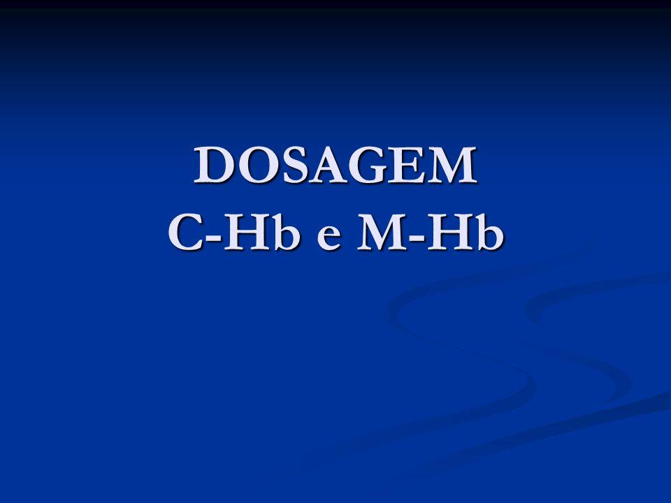 CO-OXIMETRO CO-OXIMETRO Princípio do método: Amostras de sangue total são quimicamente hemolisadas por íntimo contato com agente surfactante não iônico.