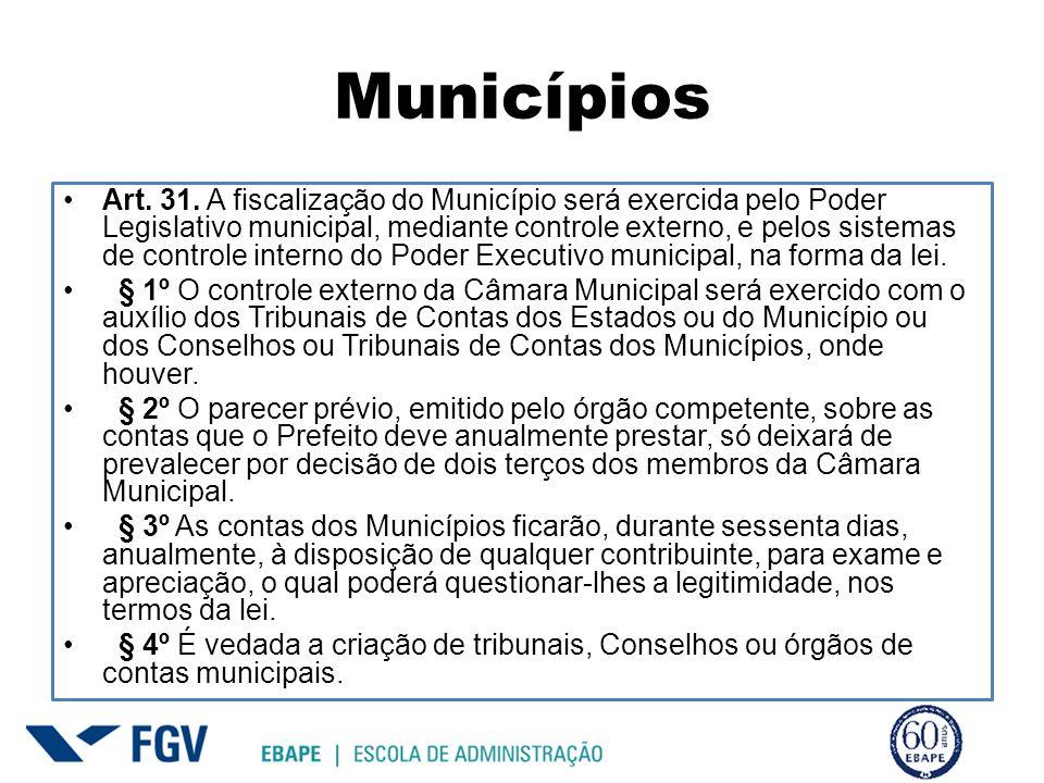 Municípios Art. 31.