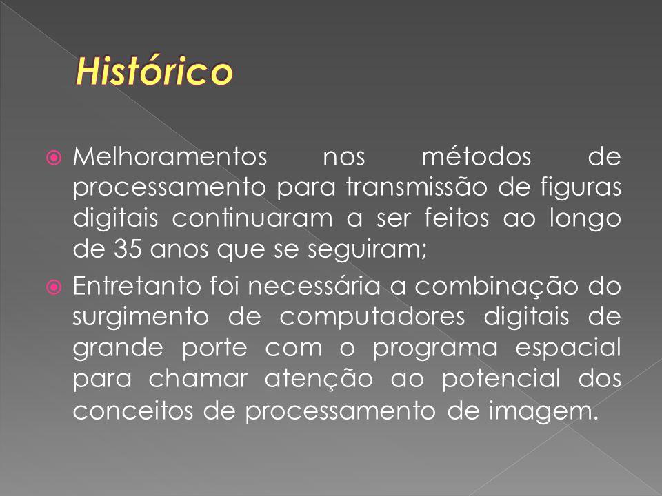 Melhoramentos nos métodos de processamento para transmissão de figuras digitais continuaram a ser feitos ao longo de 35 anos que se seguiram;  Entr