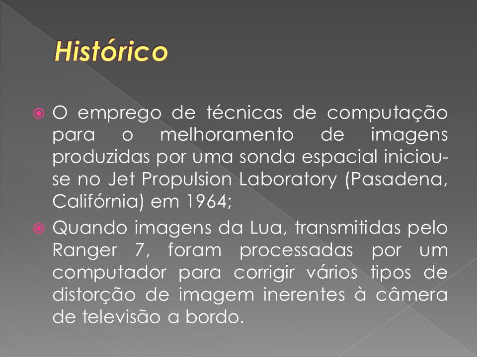  O emprego de técnicas de computação para o melhoramento de imagens produzidas por uma sonda espacial iniciou- se no Jet Propulsion Laboratory (Pasad
