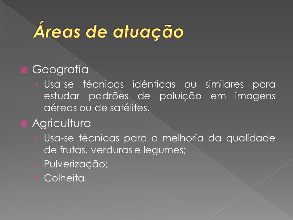  Geografia › Usa-se técnicas idênticas ou similares para estudar padrões de poluição em imagens aéreas ou de satélites.  Agricultura › Usa-se técnic
