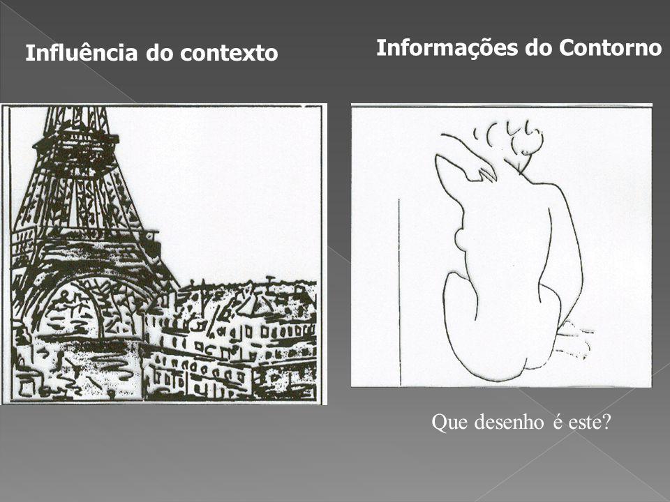 Influência do contexto Informações do Contorno Que desenho é este?