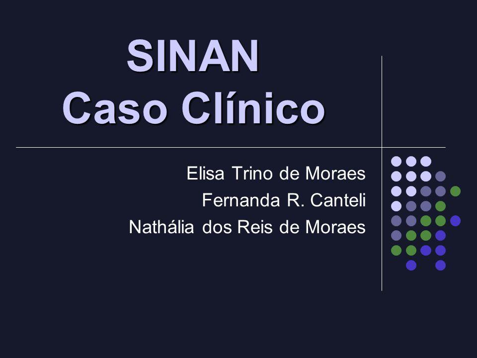 SINAN Caso Clínico Elisa Trino de Moraes Fernanda R. Canteli Nathália dos Reis de Moraes