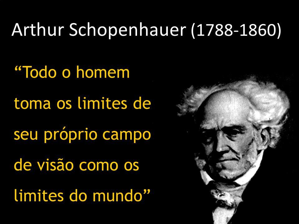"""Arthur Schopenhauer (1788-1860) """"Todo o homem toma os limites de seu próprio campo de visão como os limites do mundo"""""""