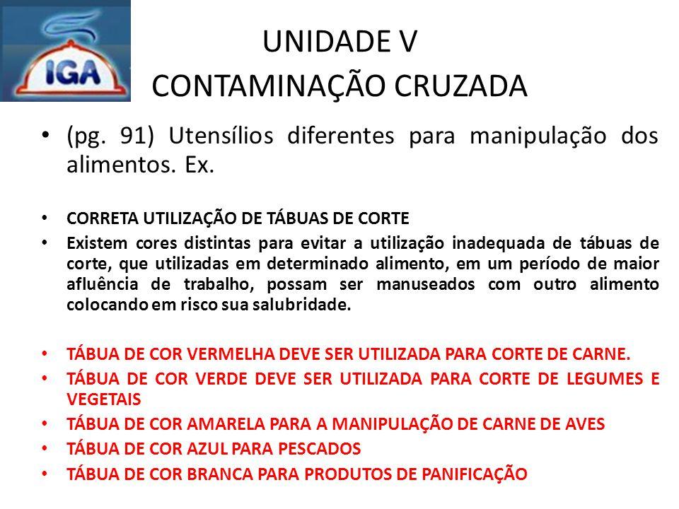UNIDADE VII CONSERVAÇÃO DE ALIMENTOS (pag.