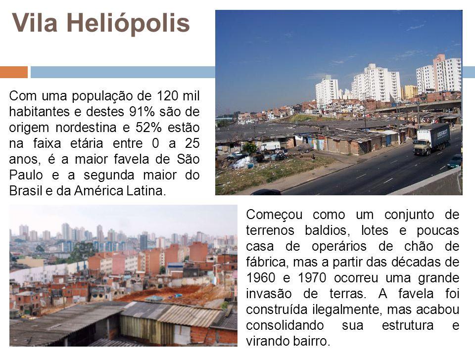 Com uma população de 120 mil habitantes e destes 91% são de origem nordestina e 52% estão na faixa etária entre 0 a 25 anos, é a maior favela de São P