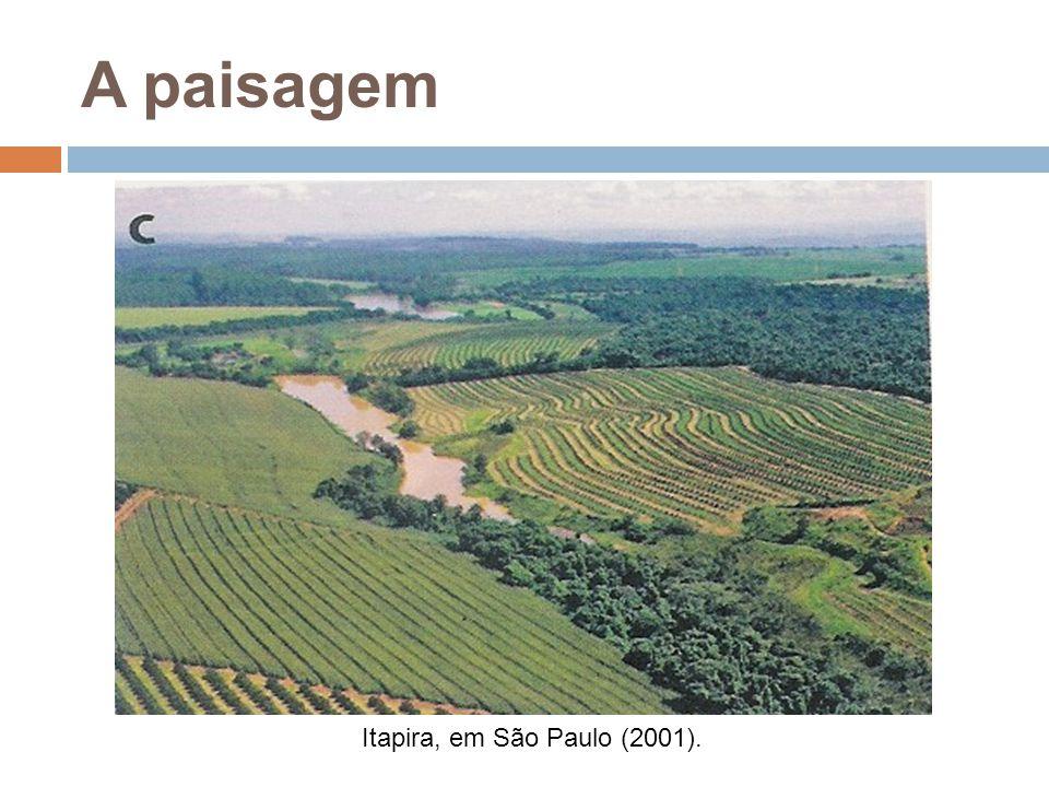 A paisagem Itapira, em São Paulo (2001).
