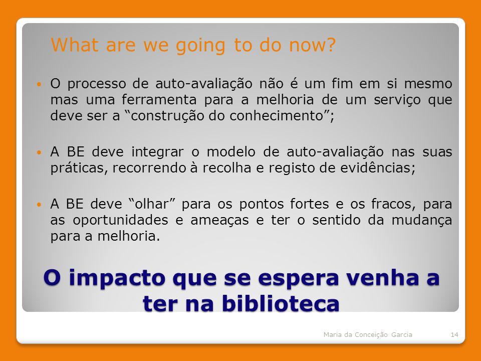 O impacto que se espera venha a ter na biblioteca What are we going to do now.