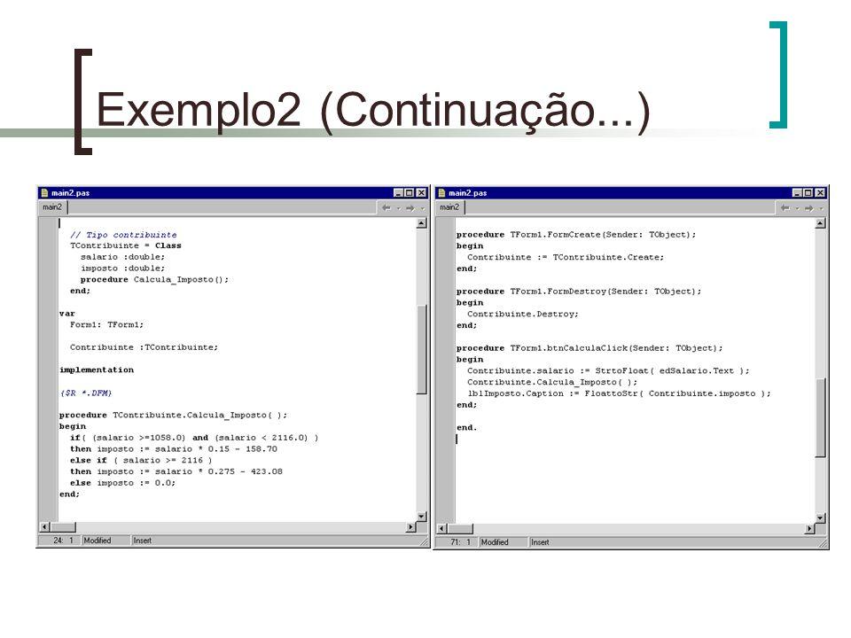 Exemplo2 (Continuação...)