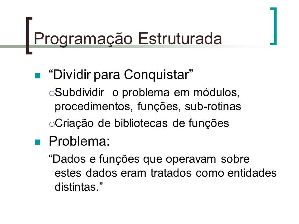 """Programação Estruturada """"Dividir para Conquistar""""  Subdividir o problema em módulos, procedimentos, funções, sub-rotinas  Criação de bibliotecas de"""