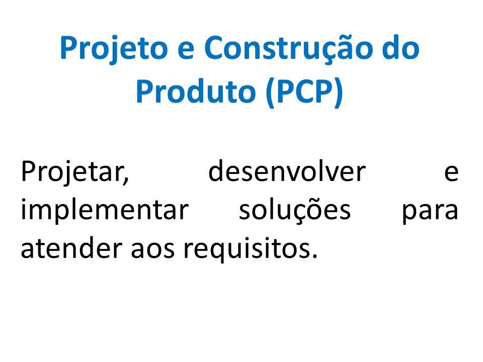 Projeto e Construção do Produto (PCP) Projetar, desenvolver e implementar soluções para atender aos requisitos.