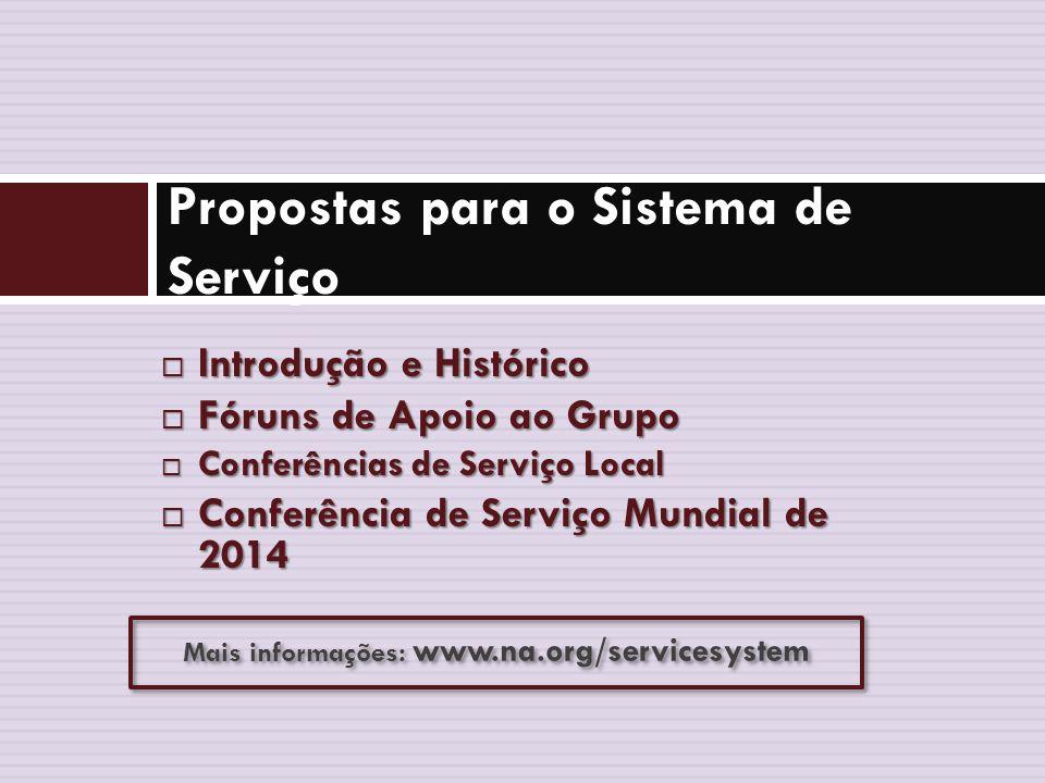 2014 Relatório da Agenda da Conferência Propostas para o Sistema de Serviço Este é o segundo de três vídeos cobrindo o material de 2014 do Relatório da Agenda da Conferência.