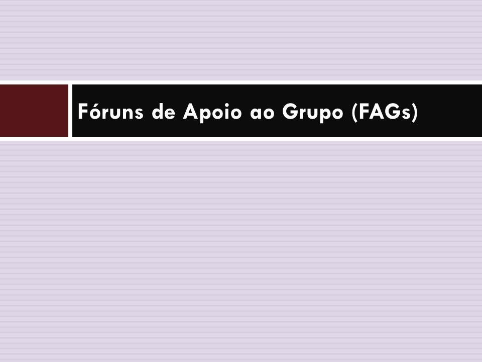 Fóruns de Apoio ao Grupo (FAGs)