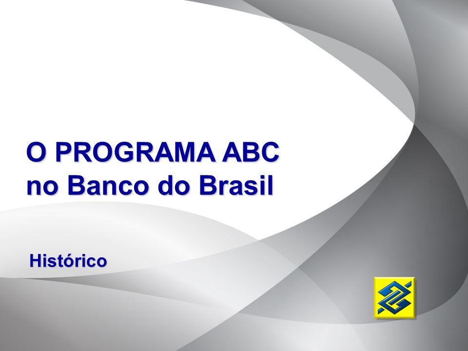 O PROGRAMA ABC no Banco do Brasil Histórico Histórico