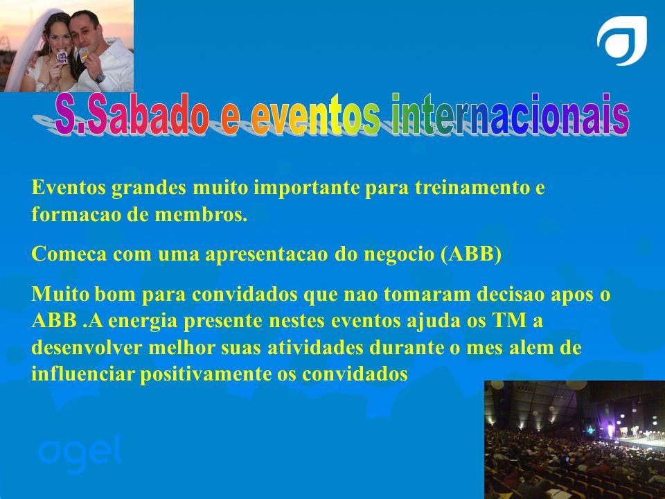 Eventos grandes muito importante para treinamento e formacao de membros.
