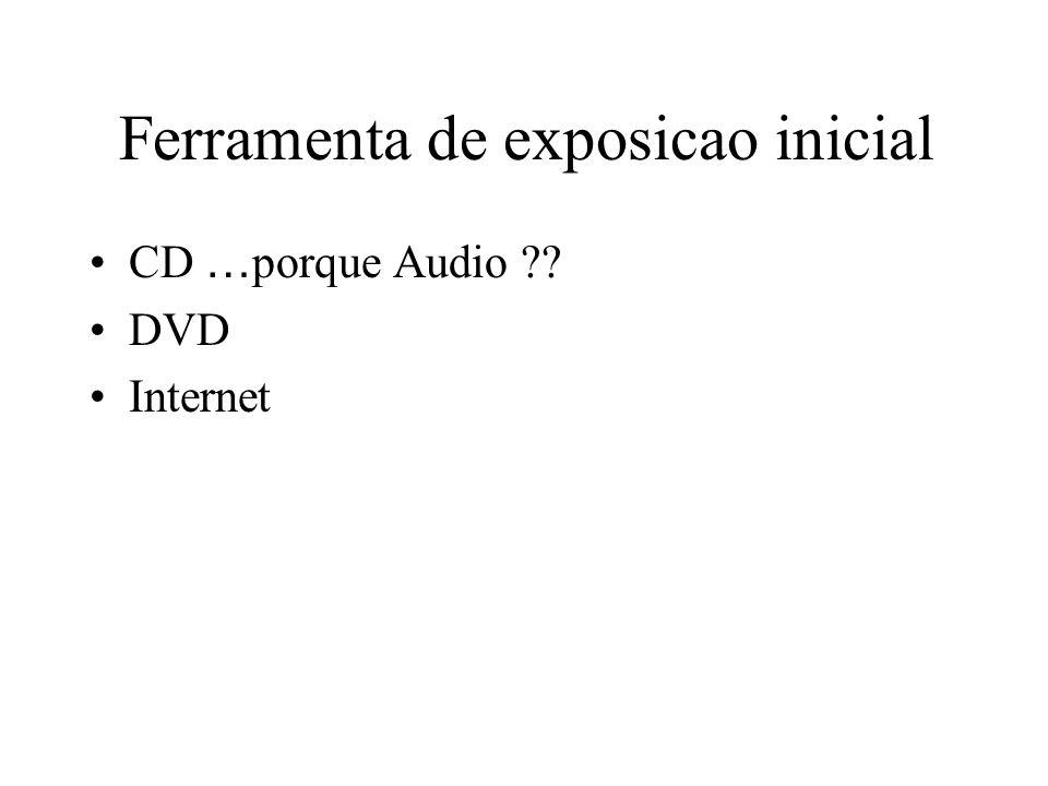 Ferramenta de exposicao inicial CD … porque Audio DVD Internet