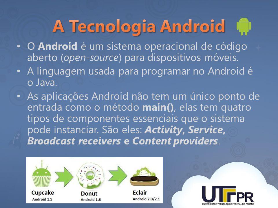 O Android é um sistema operacional de código aberto (open-source) para dispositivos móveis. A linguagem usada para programar no Android é o Java. As a