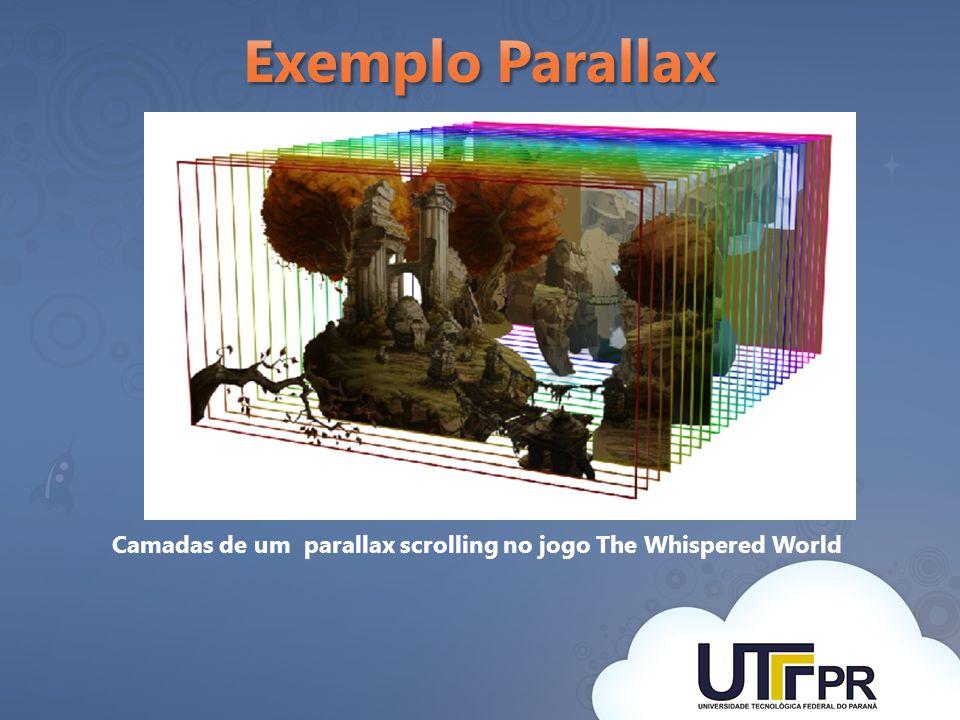 Camadas de um parallax scrolling no jogo The Whispered World