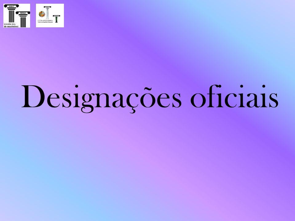 Designações oficiais