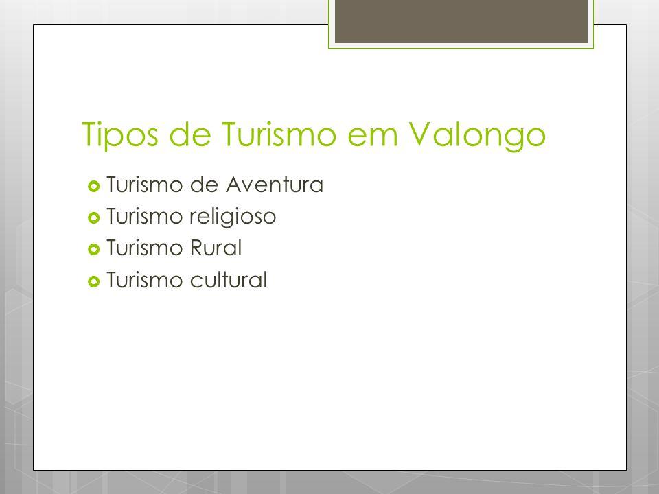 Tipos de Turismo em Valongo  Turismo de Aventura  Turismo religioso  Turismo Rural  Turismo cultural