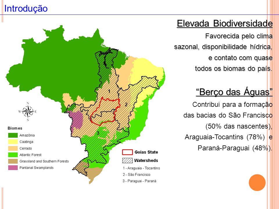 Berço das Águas Berço das Águas Contribui para a formação das bacias do São Francisco (50% das nascentes), Araguaia-Tocantins (78%) e Paraná-Paraguai (48%).