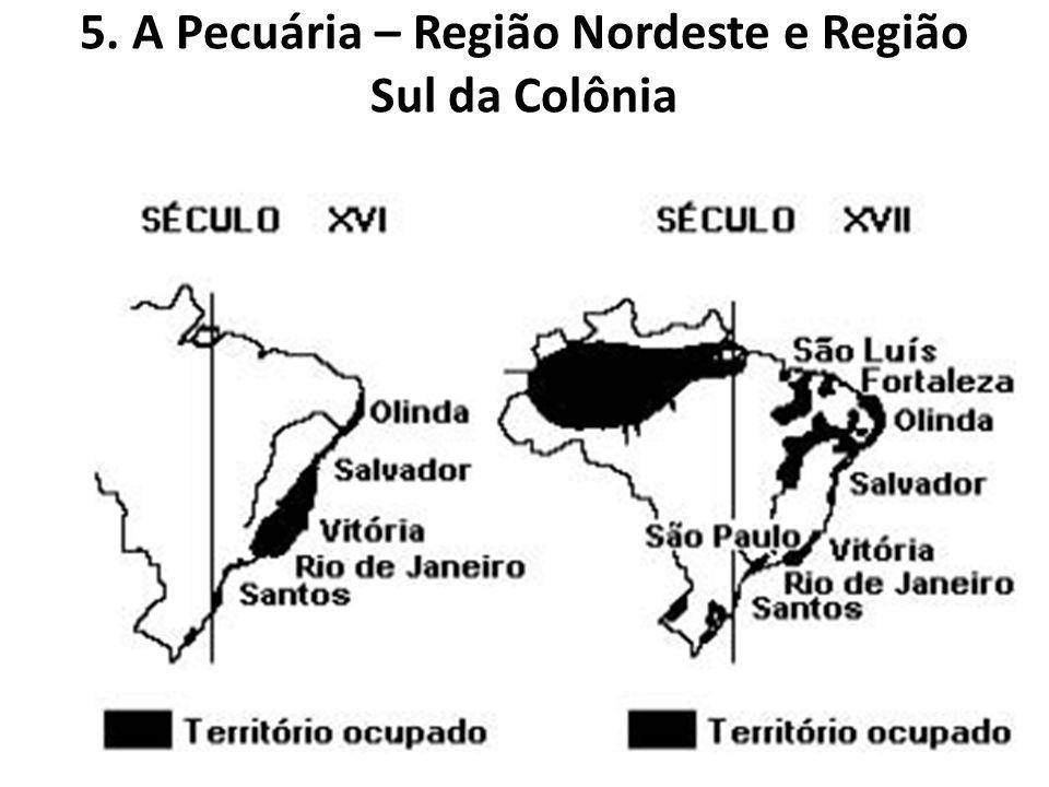5. A Pecuária – Região Nordeste e Região Sul da Colônia