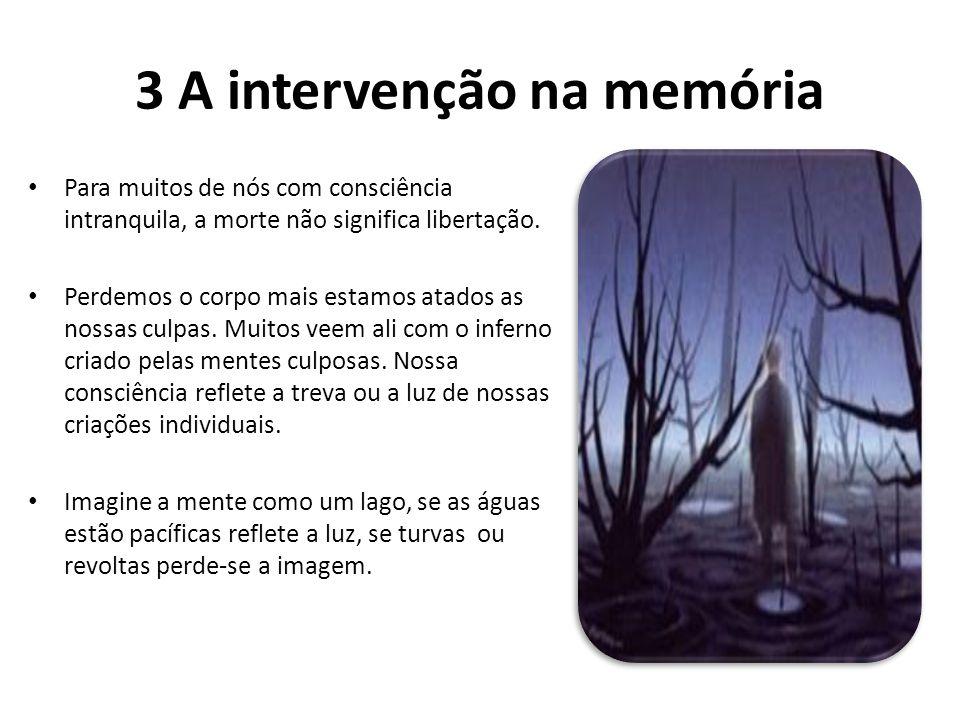 3 A intervenção na memória Para muitos de nós com consciência intranquila, a morte não significa libertação. Perdemos o corpo mais estamos atados as n