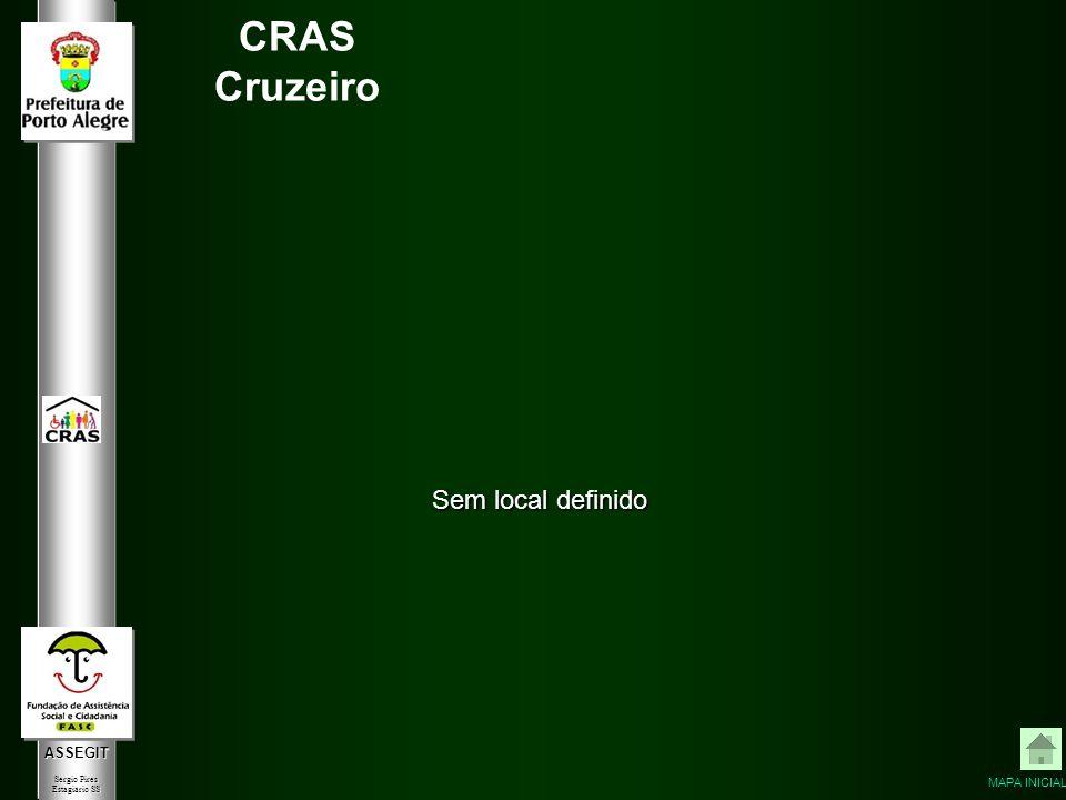 ASSEGIT Sergio Pires Estagiário SS CRAS Cruzeiro Sem local definido MAPA INICIAL
