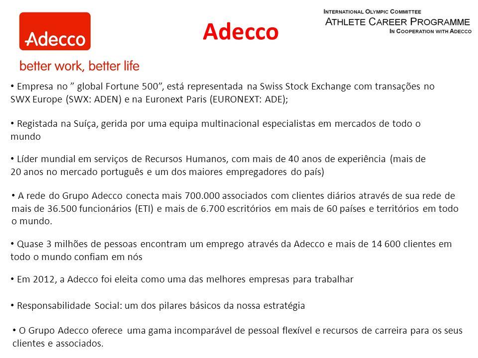 O Grupo Adecco oferece uma gama incomparável de pessoal flexível e recursos de carreira para os seus clientes e associados.