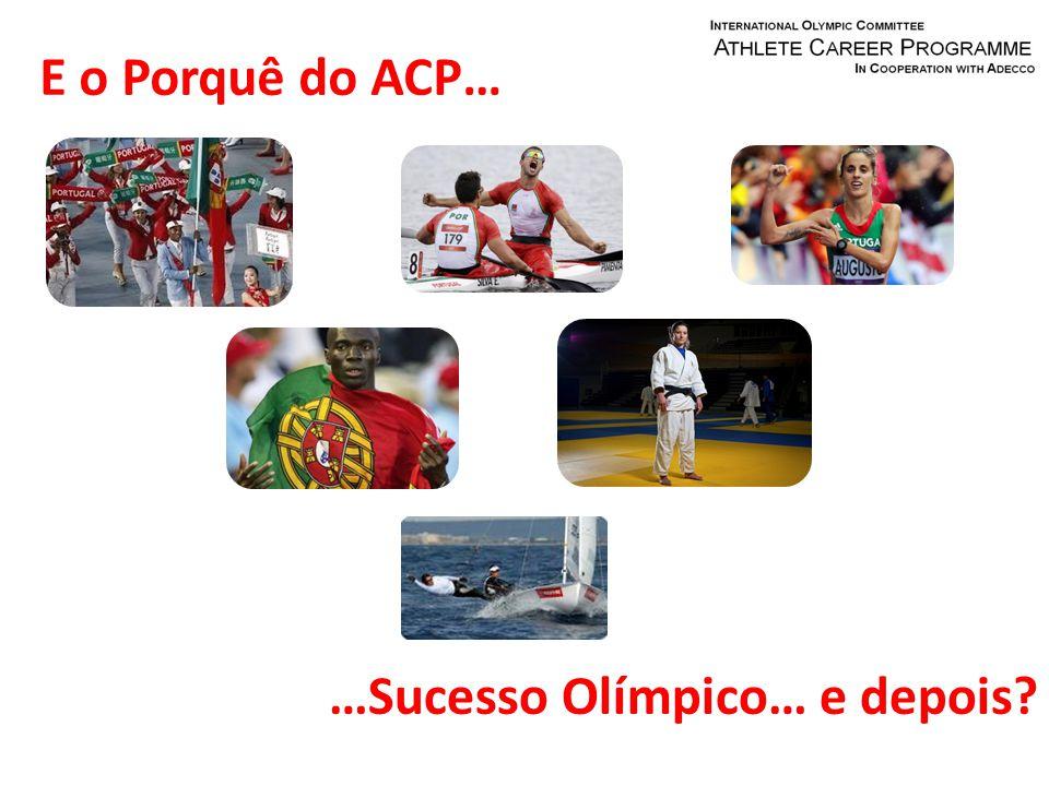 E o Porquê do ACP… …Sucesso Olímpico… e depois